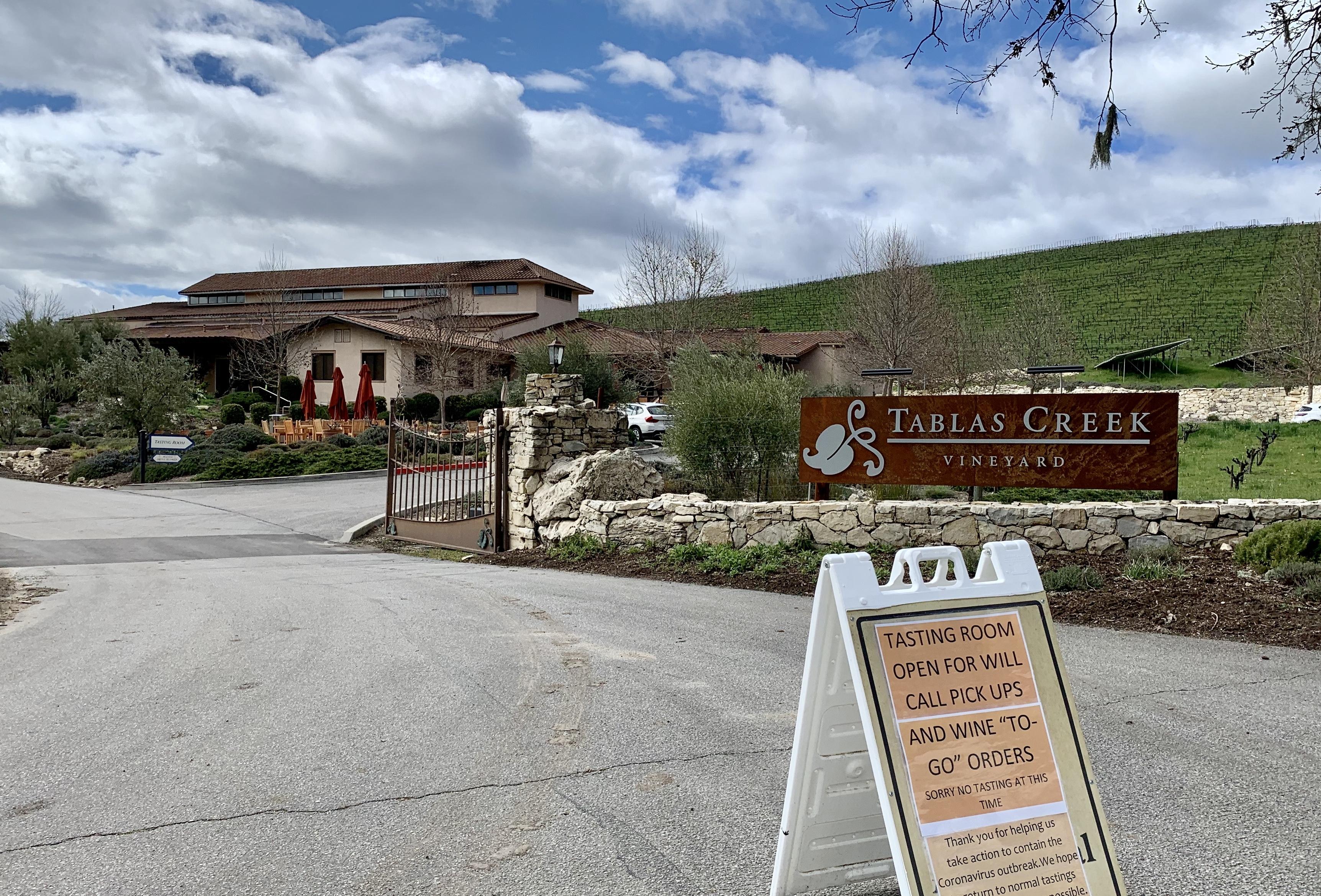 Tablas Creek Closed Tasting Room From Adelaida Road