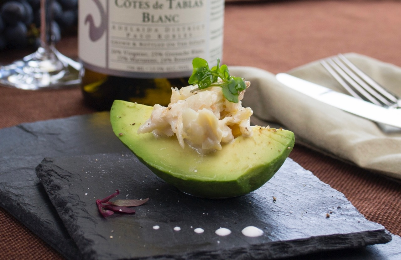 Image of Crab and Avocado Salad with Meyer Lemon Vinaigrette